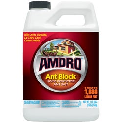 Item 717885, Ant Block Home Perimeter ant control. Apply around the perimeter of the home to prevent ants from coming inside.
