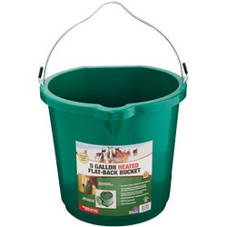 Item 720009, Heated flat-back bucket. Great for horses and large dogs.