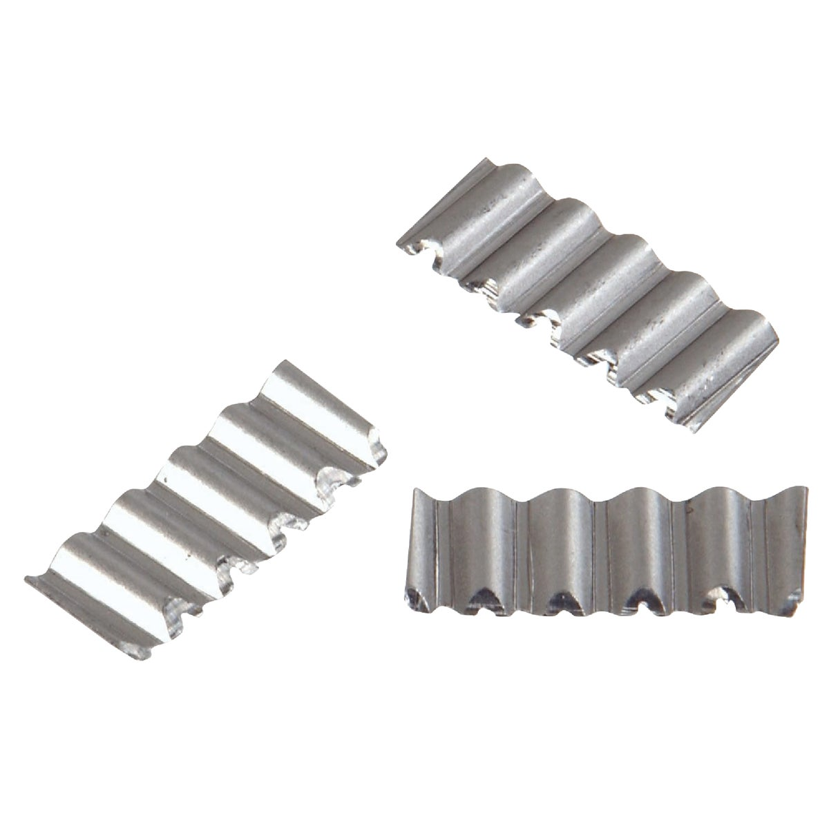 Item 723630, Corrugated bright steel joint fasteners; use only where appearance is not important, on backside.