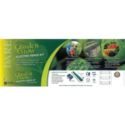 Item 743216, Garden electric fence kit safely keeps rabbits, raccoons, pets, and other