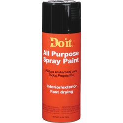 Item 770353, Fast-dry, multipurpose aerosol that provides a smooth gloss finish on wood, metal, and more. Available in 8 primary colors. 10 Oz. fill. Surface coverage: 8 To 10 Sq. Ft.
