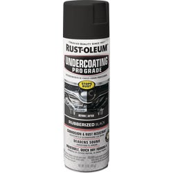 Item 771285, RustOleum Professional Undercoating is an easy to use, black rubberized coating. It provides corrosive protection from water, salt and other chemicals.