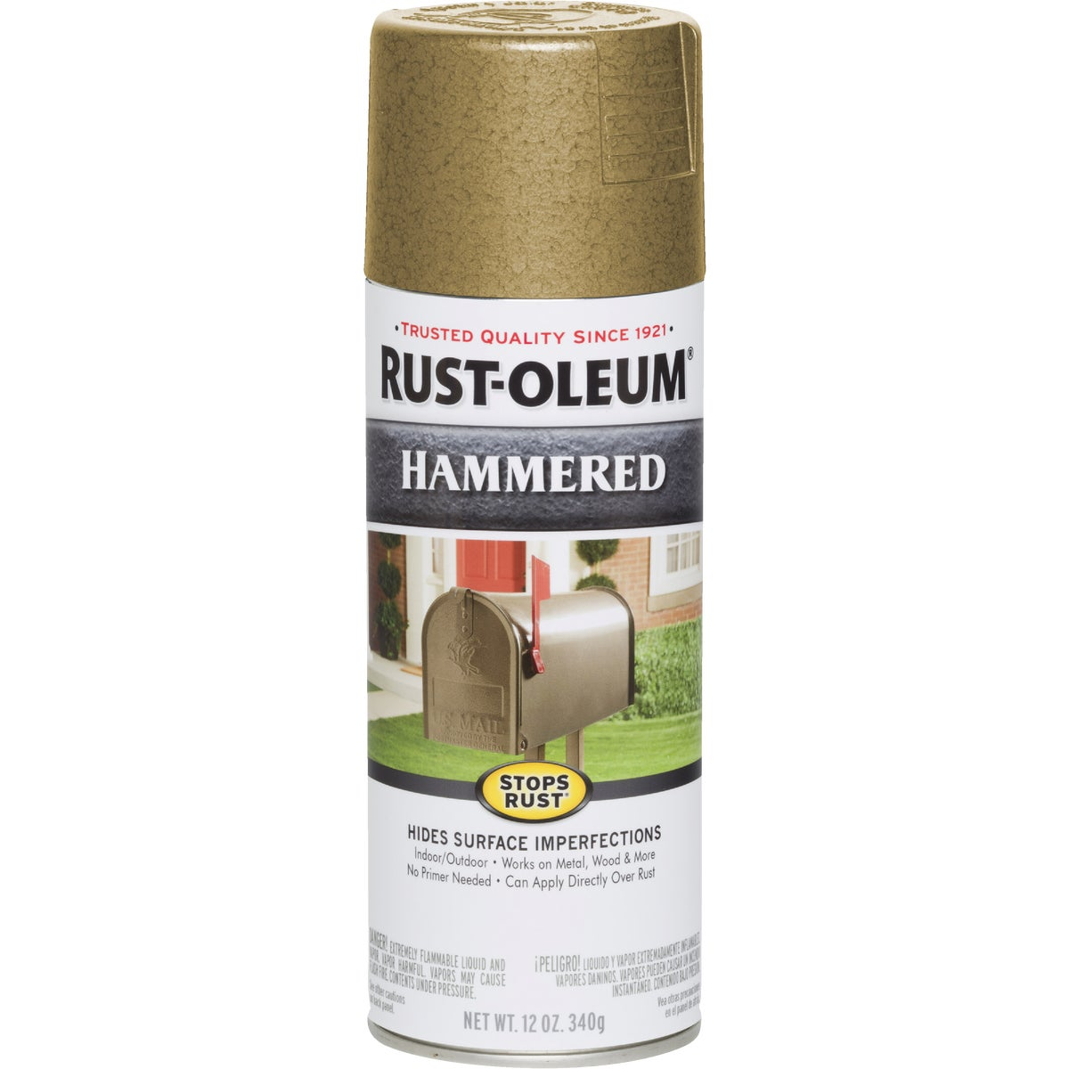 Item 780896, Now you can paint right over rust to get a distinctive hammered metal appearance with the same great rust-preventative qualities as the Stops Rust finishes.