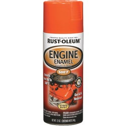 Item 781906, Rust-Oleum engine enamel creates a smooth finish and is formulated for use on automotive engines and other automotive surfaces which reach intermittent temperatures up to 500