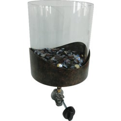 Item 801434, Decorative table gas firebowl. Mounted through umbrella hole.