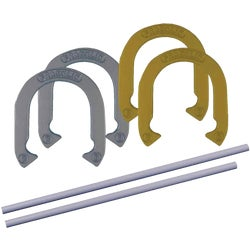 Item 808291, Official size and weight family horseshoe set.