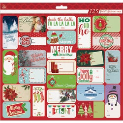 Item 900390, 125-peel & stick gift tags in a PDQ.