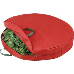 Item 932922, Zippered wreath storage bag with comfortable carrying handles keeps wreath